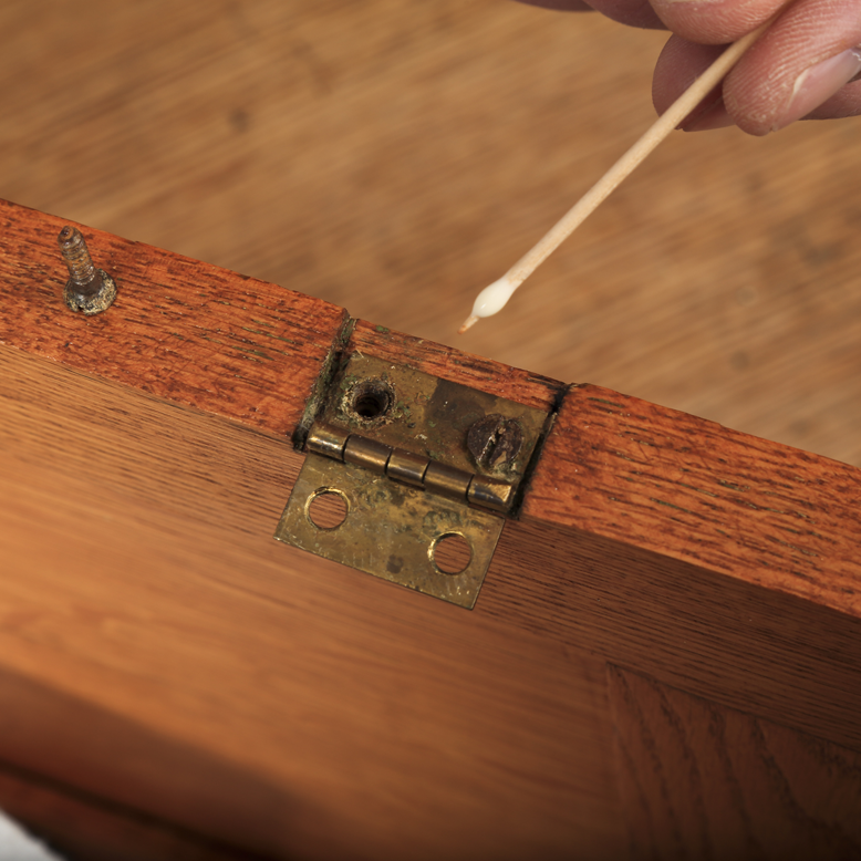Glue and Toothpicks Save Stripped Hinge Holes