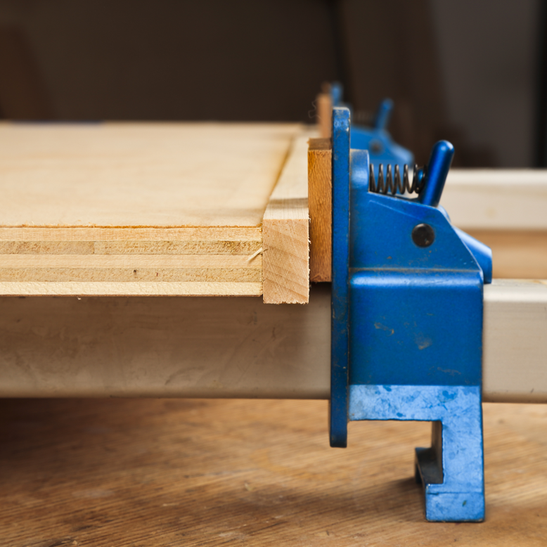 For perfect plywood edging, cut it extra-wide